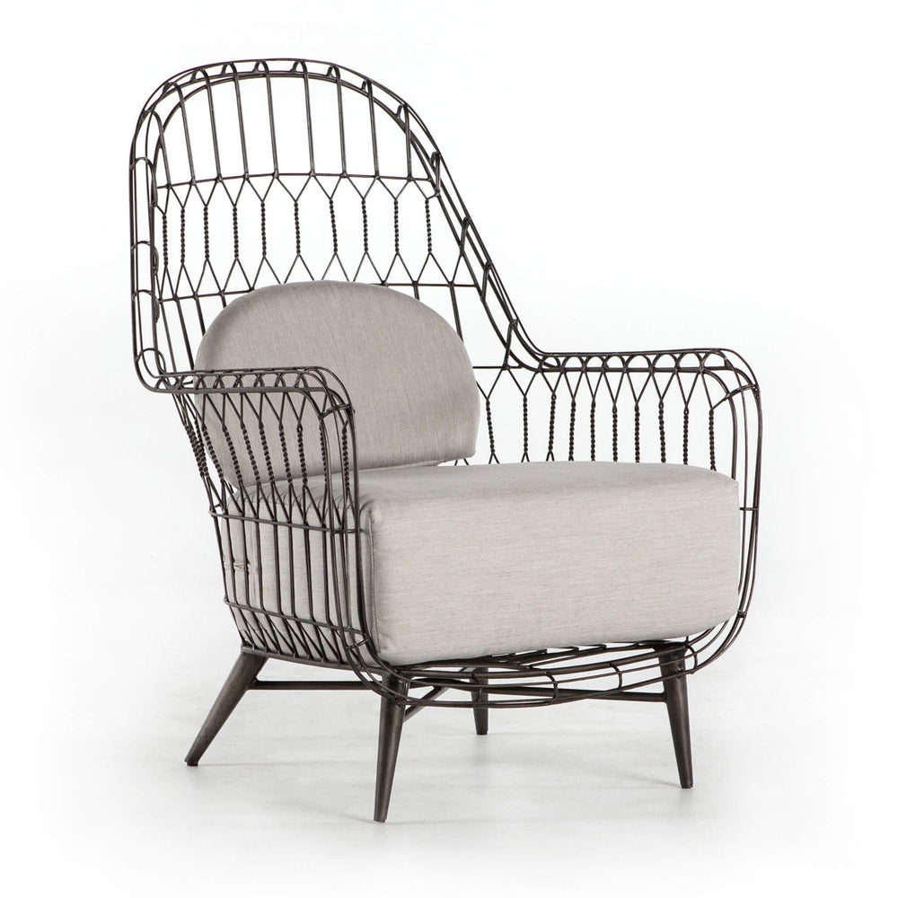 Manten Outdoor Wing Chair - Modern Furniture - Accent Chairs - High Fashion Home