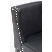 Marlin Leather Dining Chair, Black - Furniture - Dining - Chairs & Benches