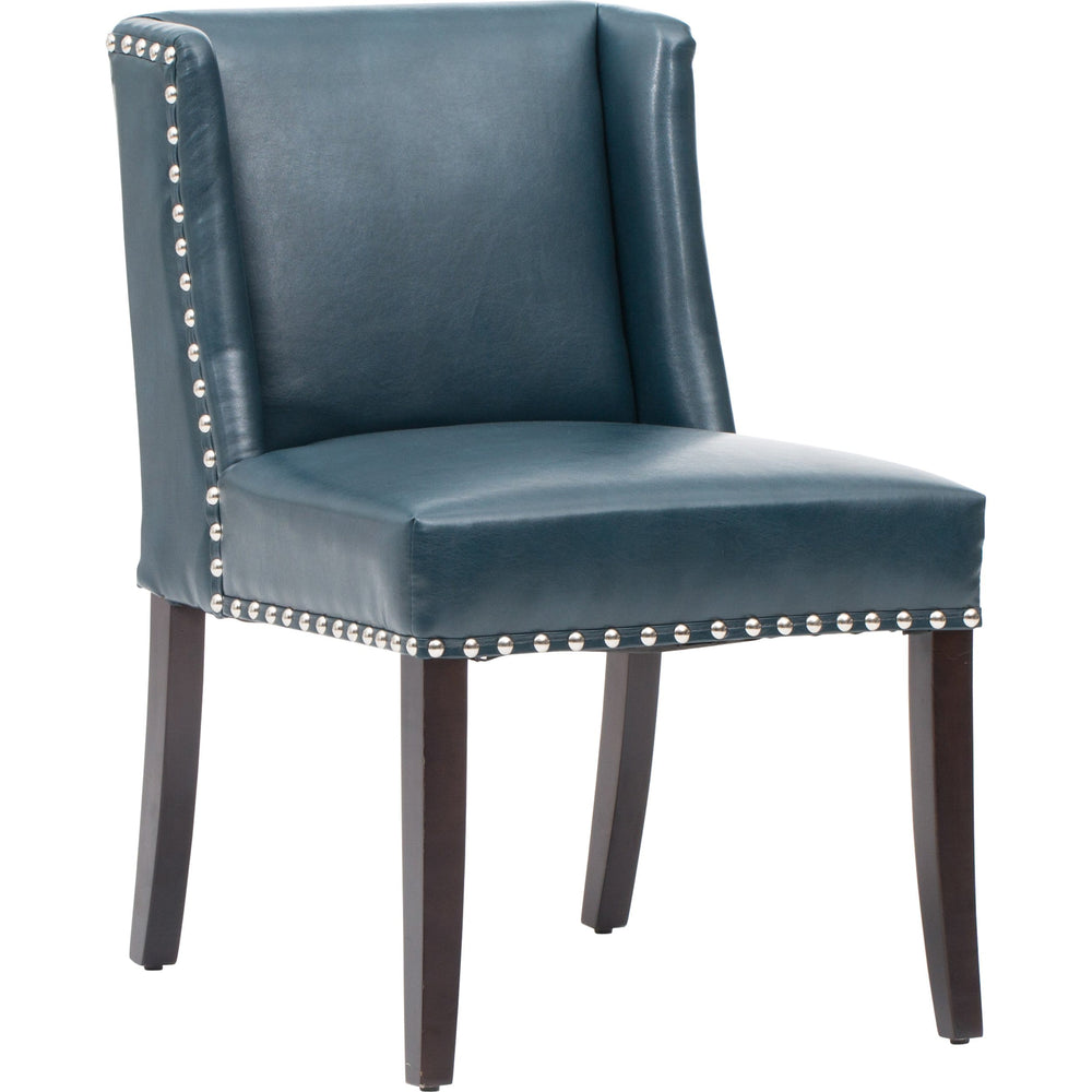 Marlin Leather Dining Chair, Blue (Set of 2) - Furniture - Dining - Chairs & Benches