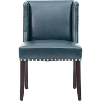 Marlin Leather Dining Chair, Blue (Set of 2) - Furniture - Dining - High Fashion Home