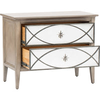 Marquesa Mirrored Nightstand - Furniture - Storage - Bedroom