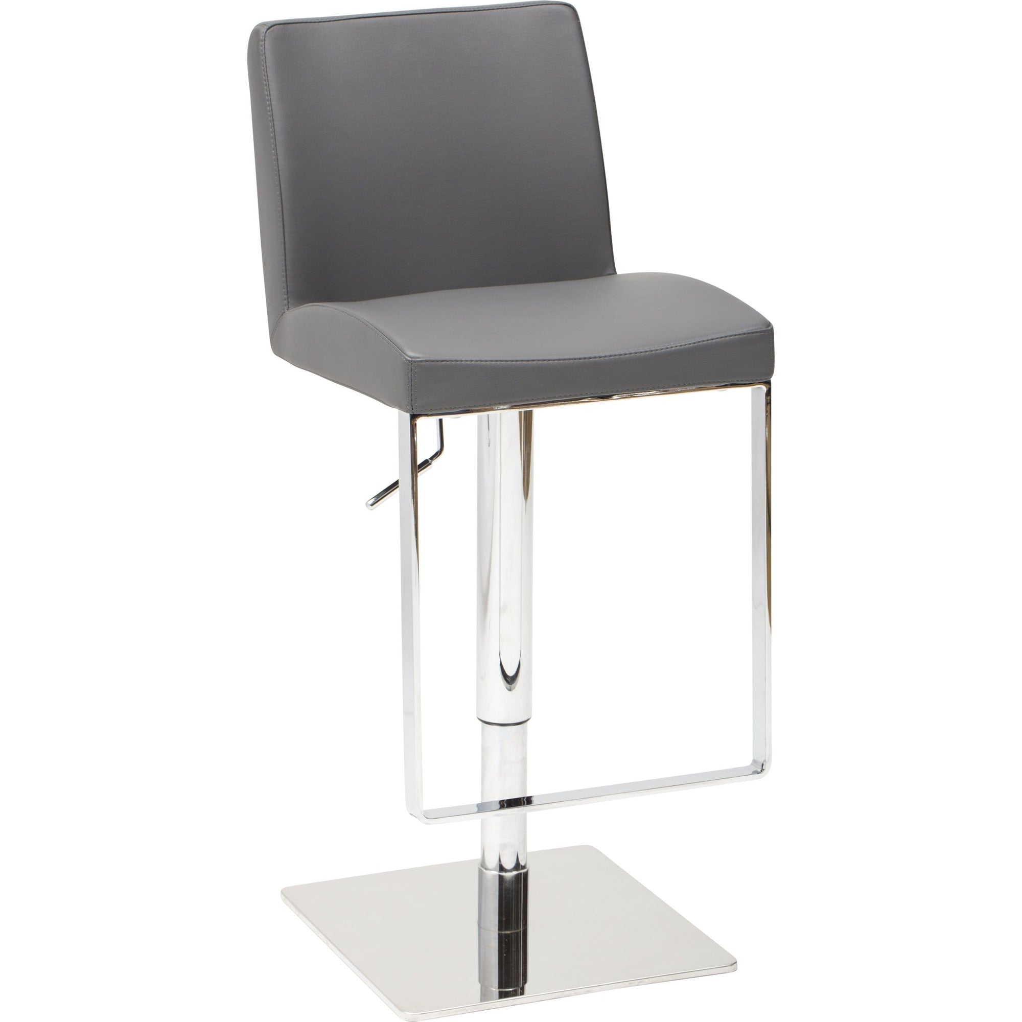 Outstanding Matteo Leather Bar Stool Grey High Fashion Home Dailytribune Chair Design For Home Dailytribuneorg