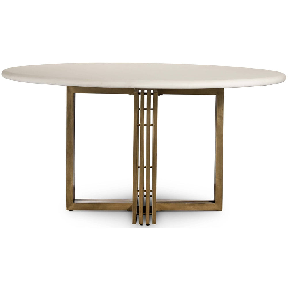 Mia Round Dining Table, Parchment White - Modern Furniture - Dining Table - High Fashion Home