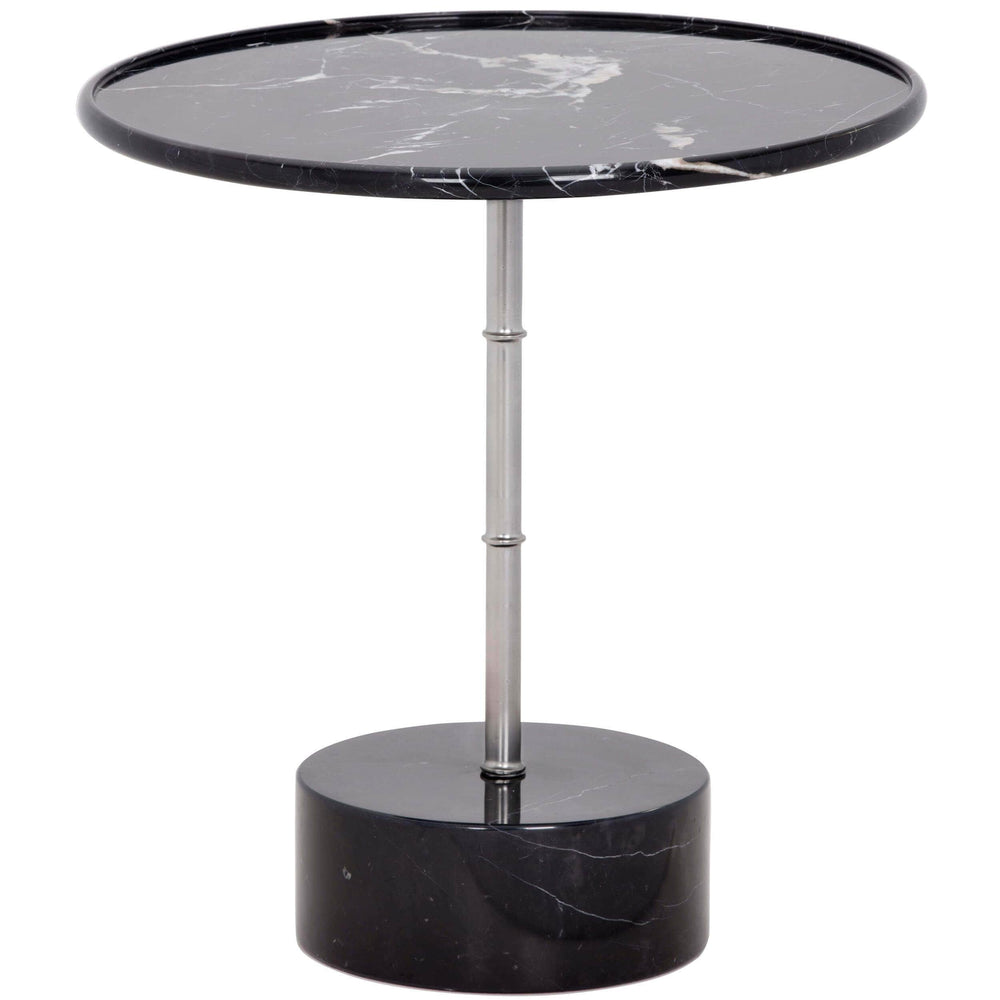Milano Side Table, Black Marble - Furniture - Accent Tables - High Fashion Home