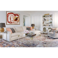 Miller Sectional, Crevere Cream - Modern Furniture - Sectionals - High Fashion Home