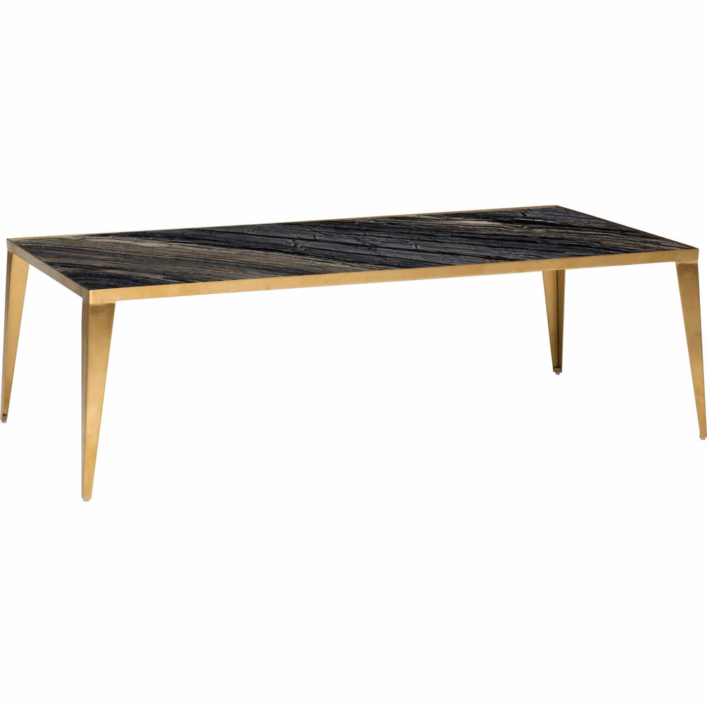 Mink Coffee Table, Black/Gold Base - Furniture - Accent Tables - Coffee Tables