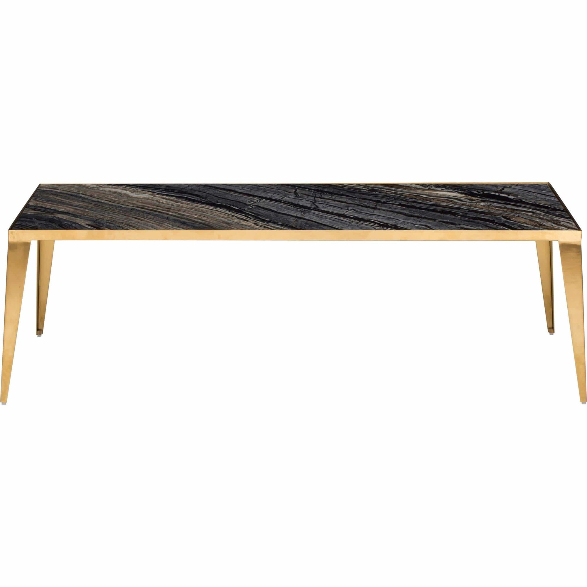 Mink Coffee Table Black Gold Base High Fashion Home