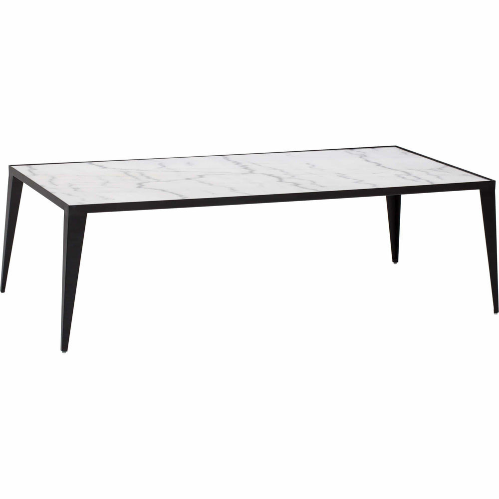 Mink Coffee Table, White/Black Base - Furniture - Accent Tables - Coffee Tables