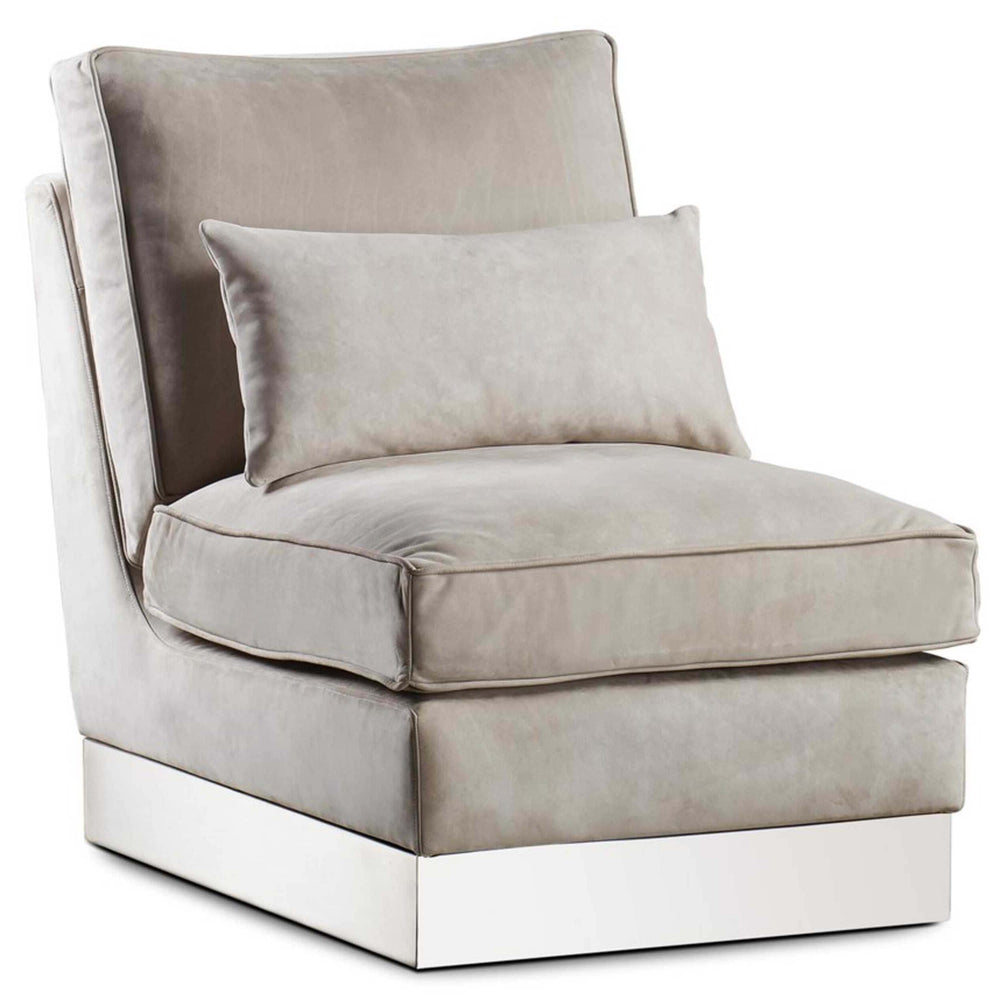 Molly Leather Lounge Chair, Finley Beige - Modern Furniture - Accent Chairs - High Fashion Home