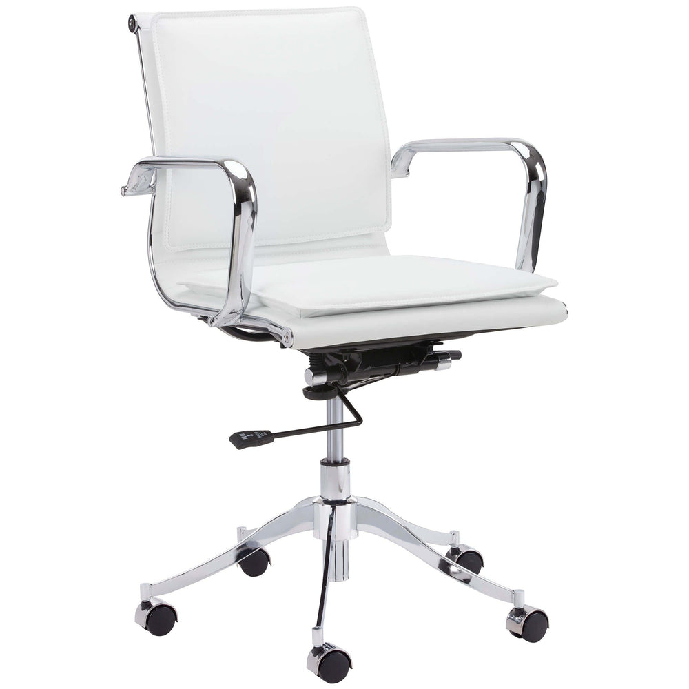 Morgan Full Back Office Chair, Snow - Furniture - Office - High Fashion Home
