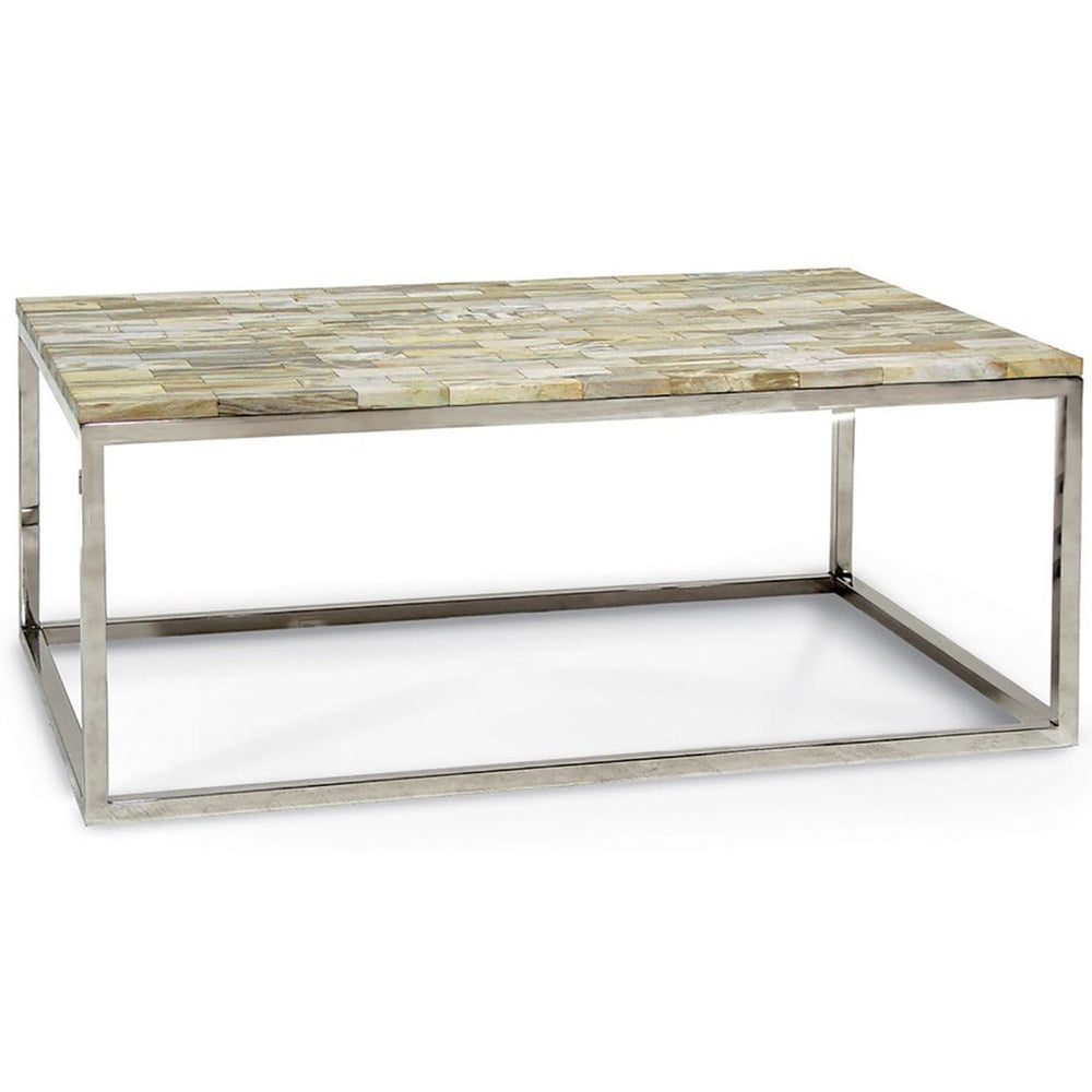Mosaic Pertrified Wood Coffee Table - Modern Furniture - Coffee Tables - High Fashion Home