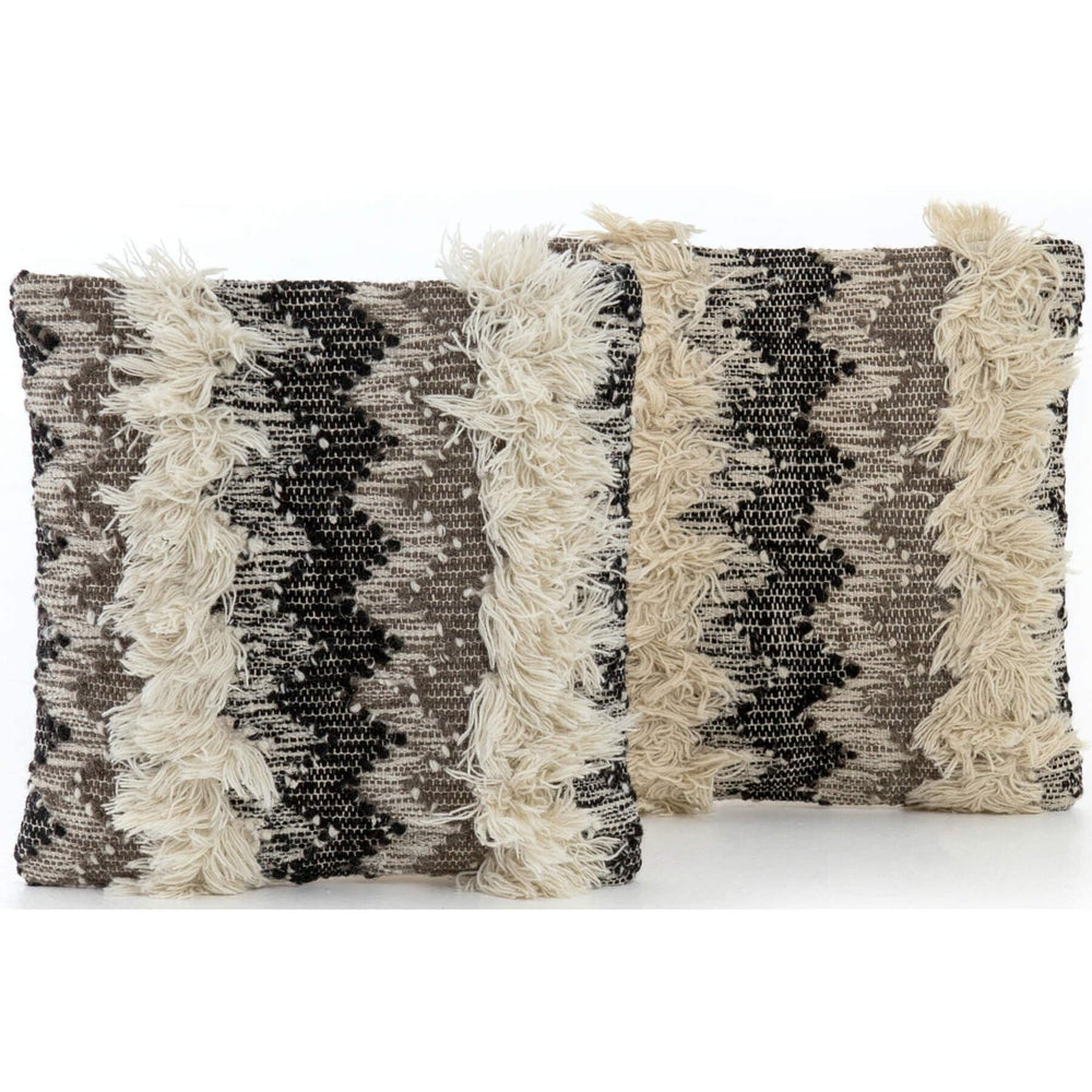 Multi-Fringe Pillow (Set of 2) - Accessories - High Fashion Home
