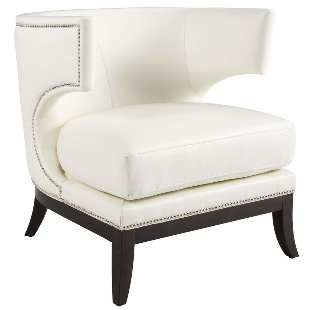 Napoli Leather Chair, Ivory  - Furniture - Sunpan