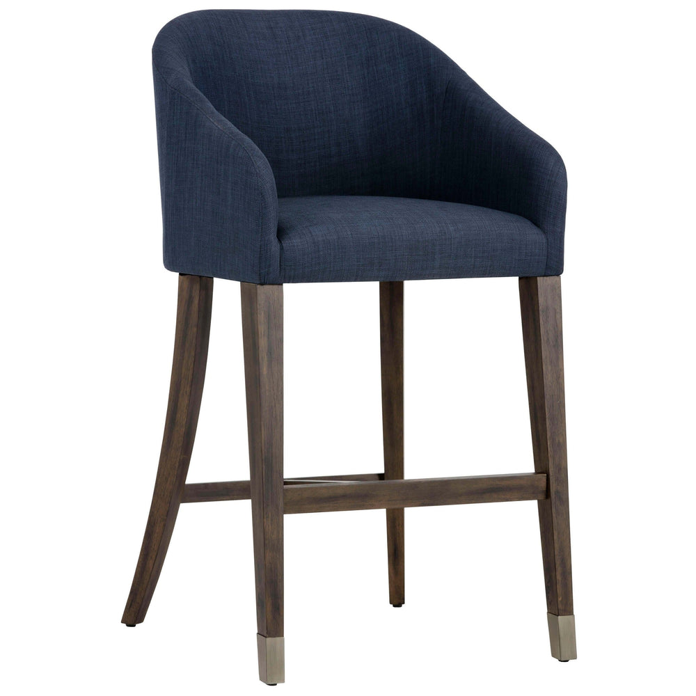 Nellie Bar Stool, Arena Navy - Furniture - Dining - High Fashion Home