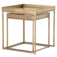 Nesting Nightstands, Antique Brass - Furniture - Bedroom - High Fashion Home