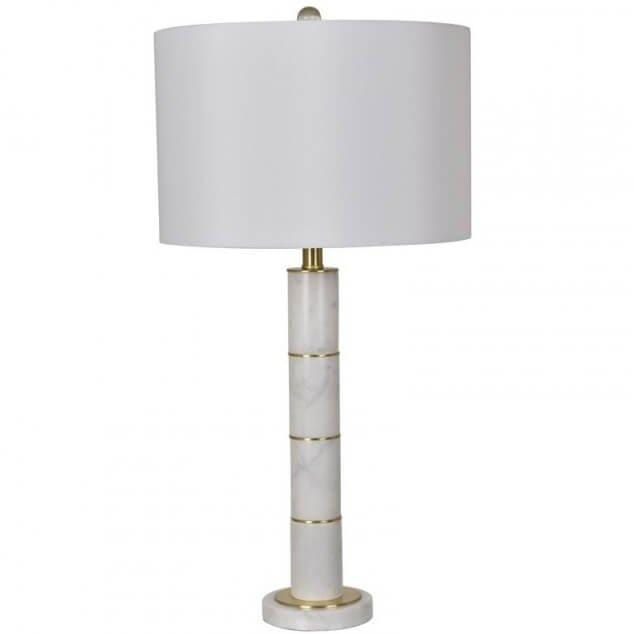 Marble Column Table Lamp - Accessories - High Fashion Home