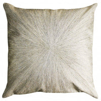 Cloud 9 Nimbus Ivory Velvet Pillow, Silver Zari - Accessories - High Fashion Home