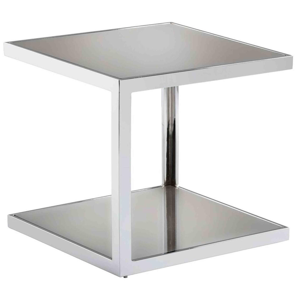 Nolan Mirrored Side Table - Furniture - Accent Tables - High Fashion Home