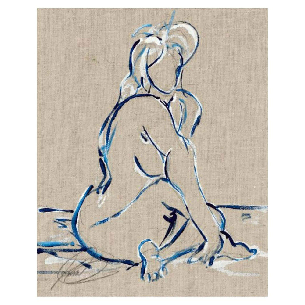 Nude Study - Accessories - Canvas Art - Abstract