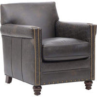 Old Saddle Crocodile Leather Club Chair - Modern Furniture - Accent Chairs - High Fashion Home