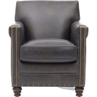 Old Saddle Crocodile Leather Club Chair - Furniture - Chairs - Leather