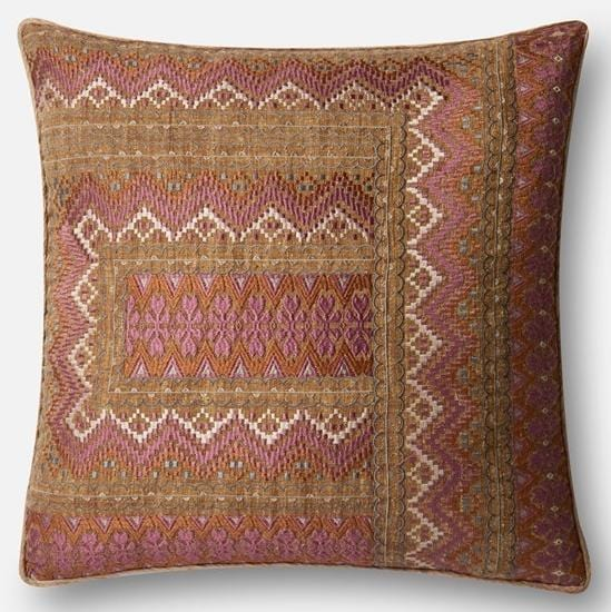 Mumbai Pillow, Pink - Accessories - High Fashion Home