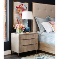 Pacifica Three Drawer Nightstand - Furniture - Bedroom - High Fashion Home