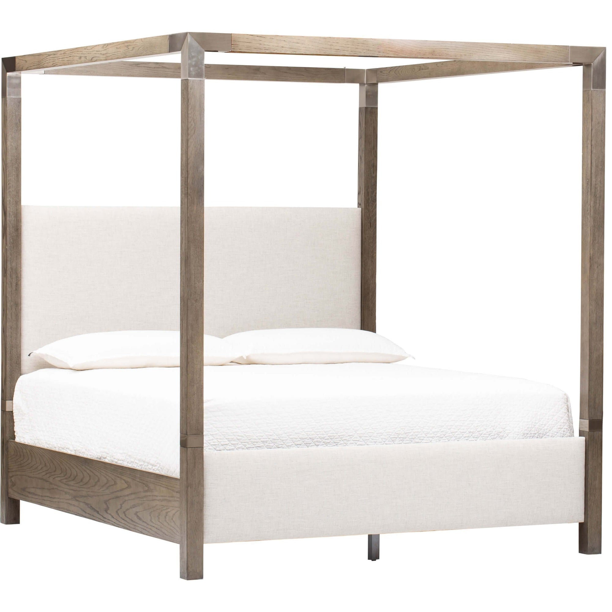 Palma Upholstered Canopy King Bed High Fashion Home