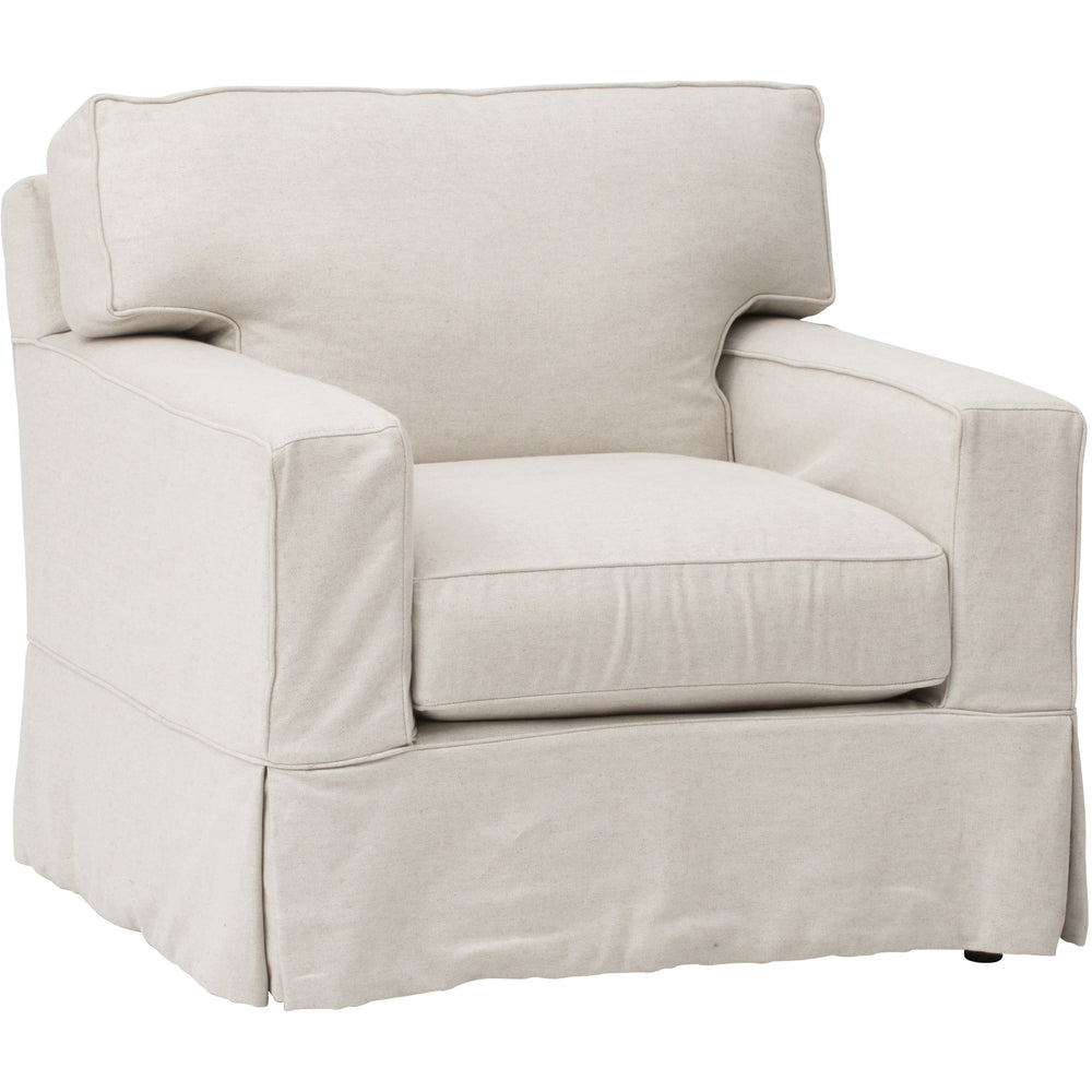 Parker Slipcover Chair, Duet Natural - Modern Furniture - Accent Chairs - High Fashion Home