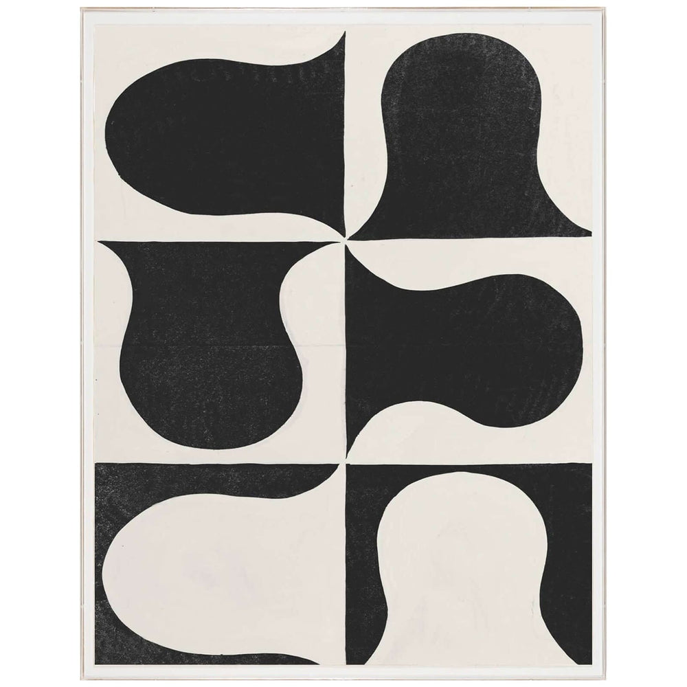 Paule Marrot, Black and White Abstract Framed