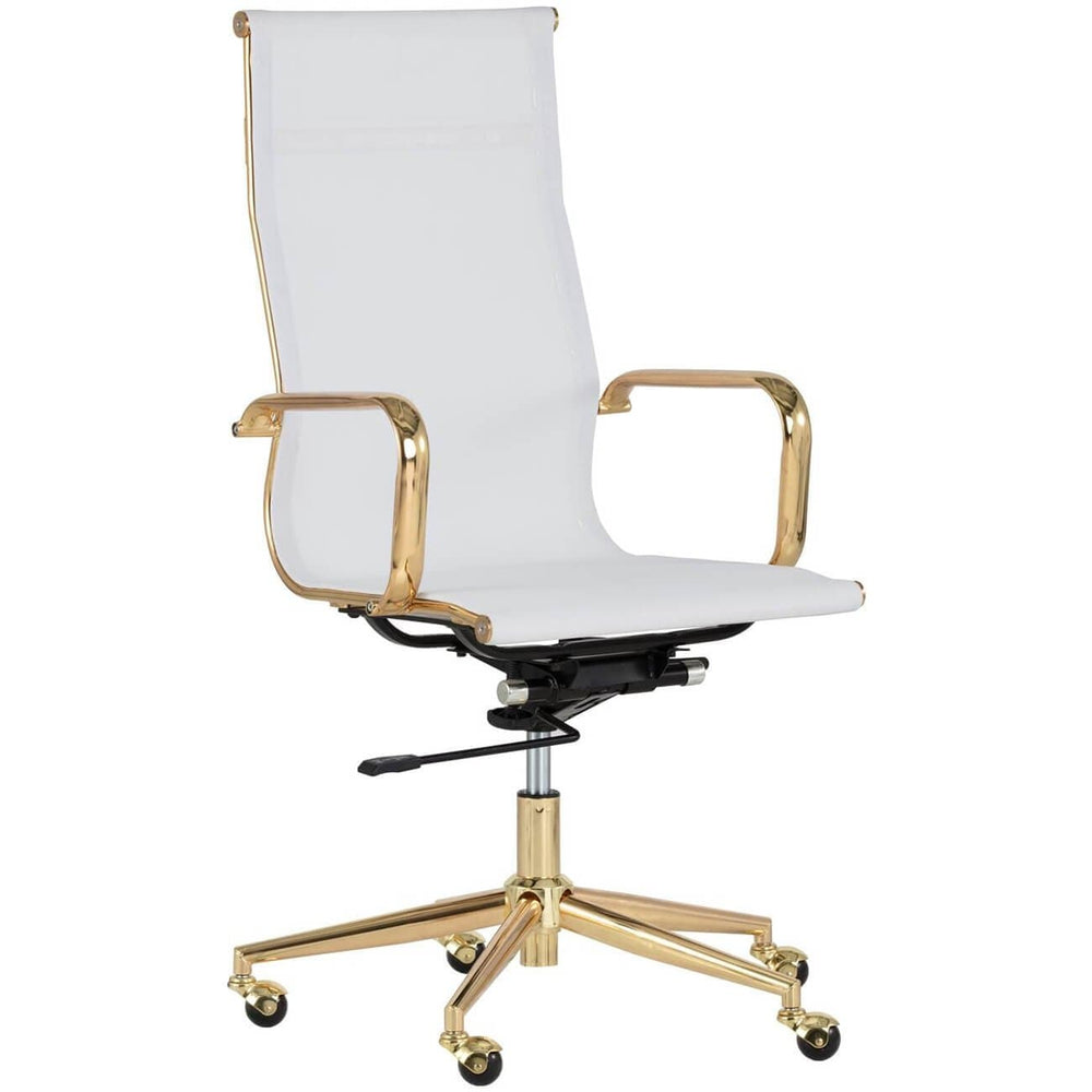 Alexis Office Chair, White - Furniture - Office - High Fashion Home