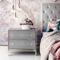 Petra Shagreen Nightstand - Furniture - Bedroom - High Fashion Home