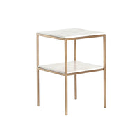 Piet Printed Marble Side Table - Furniture - Accent Tables - End Tables
