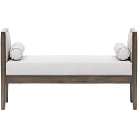 Pietro Bench, Silver Linen - Furniture - Chaises & Benches