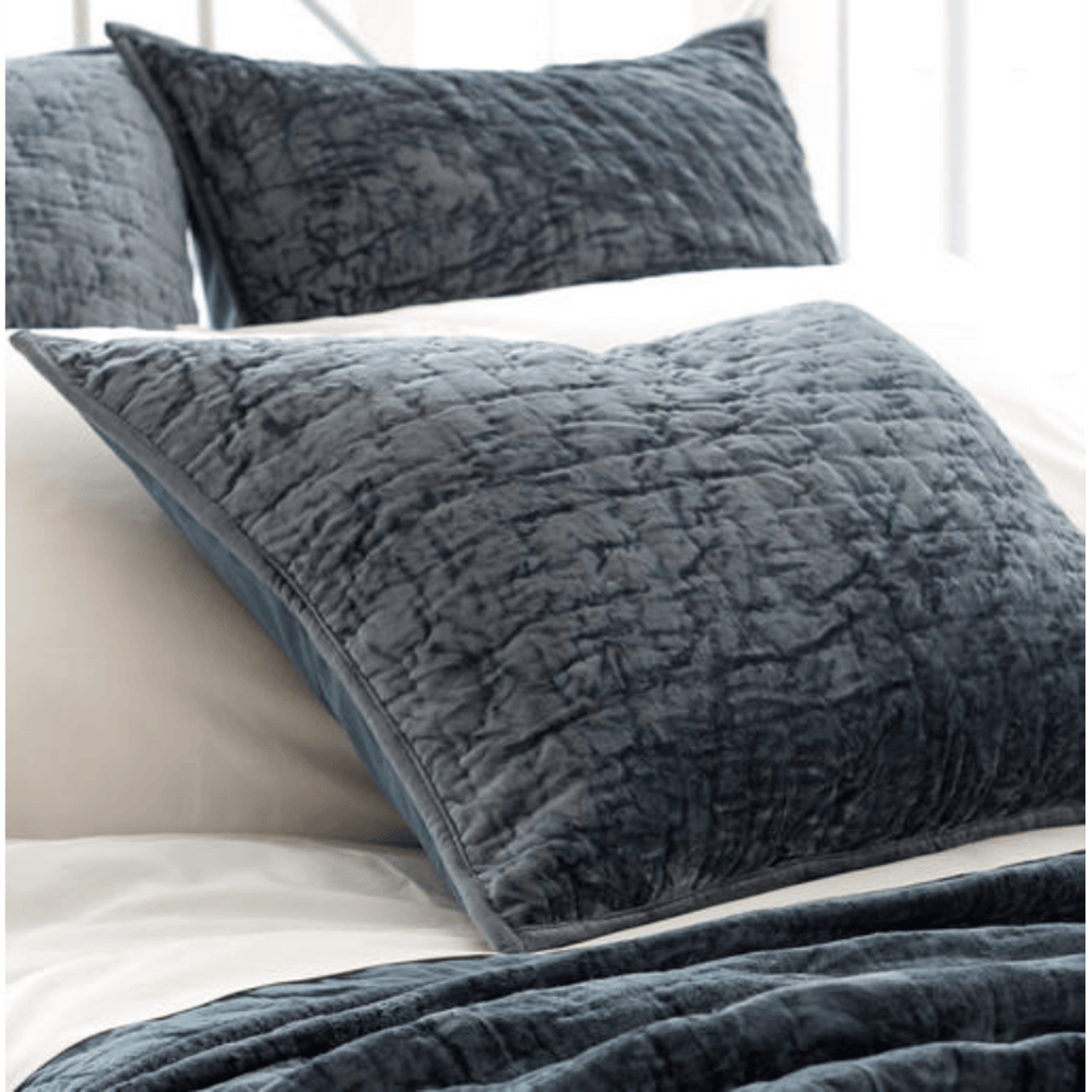 Matte Velvet Juniper Quilted Sham - Accessories - High Fashion Home