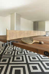 Artisan Reclaimed Wood Ping Pong Table, Burnt Umber - Modern Furniture - Dining Table - High Fashion Home