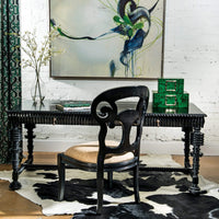 Portuguese Desk, Black - Furniture - Office - Desks