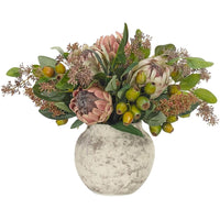 Protea in Pottery Orb