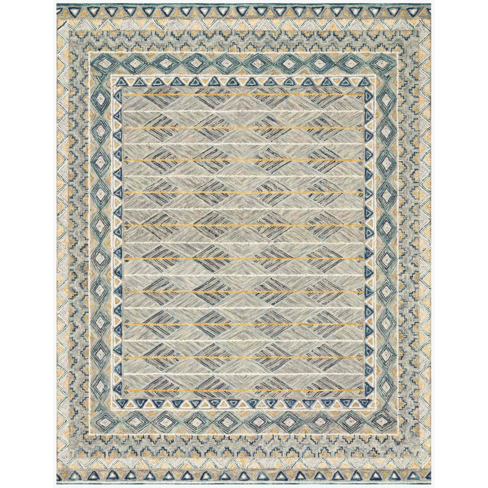 Loloi Rug Priti PRT-02, Grey/Lagoon - Rugs1 - High Fashion Home