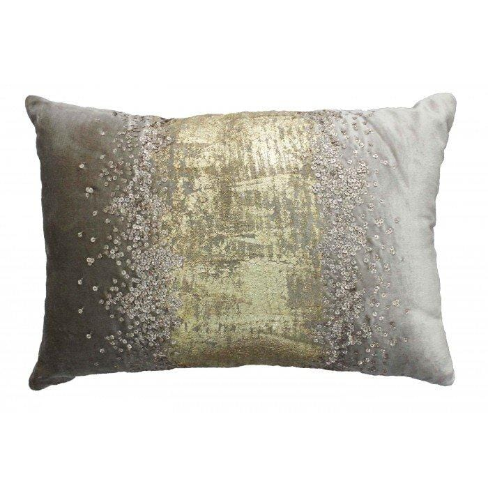 Cloud 9 Raina Lumbar Pillow, Grey - Accessories - Pillows
