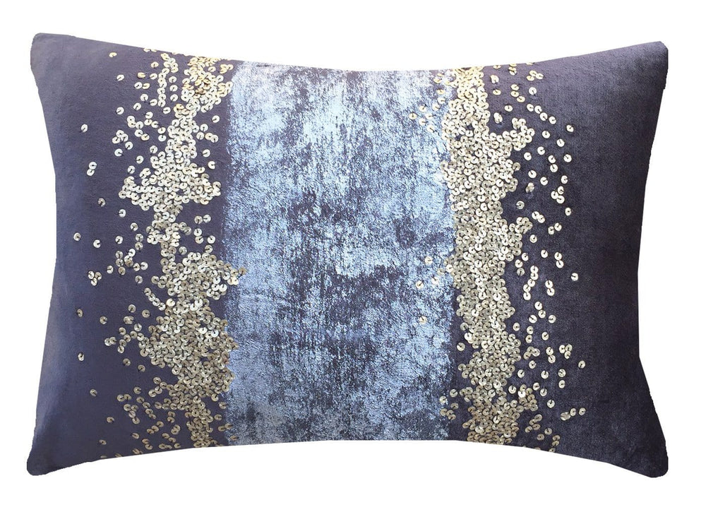 Cloud 9 Raina Lumbar Pillow, Grey - Accessories - High Fashion Home