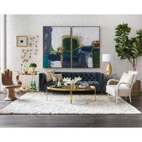 Gaultier Oval Coffee Table, Gold  - Furniture - Accent Tables - Coffee Tables