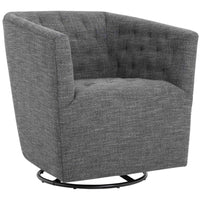 Reeves Swivel Chair, Quarry - Modern Furniture - Accent Chairs - High Fashion Home