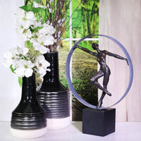 Resin Dancer Sculpture, Bronze