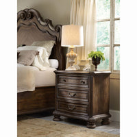 Rhapsody Three Drawer Nightstand - Furniture - Bedroom - Storage