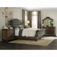 Rhapsody Tufted King Bed, Grey - Furniture - Bedroom - Beds