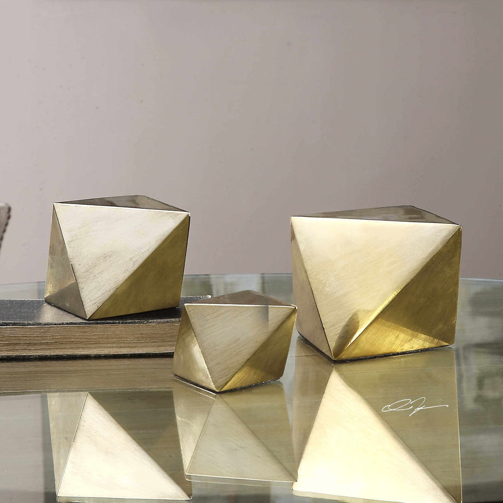Rhombus Sculpture, Set of 3 - Accessories - High Fashion Home