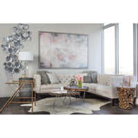 Leaf Wall Decor, Silver - Accessories - High Fashion Home