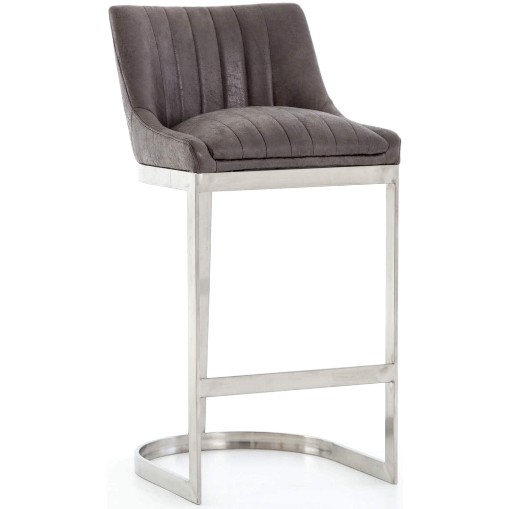 Rory Bar Stool, Vintage Graphite - Furniture - Dining - High Fashion Home