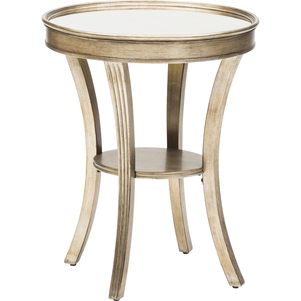 Round Mirror Accent Table - Furniture - Accent Tables - High Fashion Home